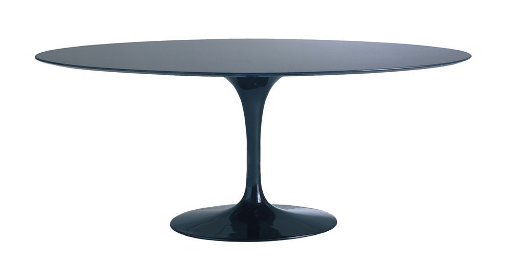 malik gallery collection eero saarinen oval tulip dining table h 28 d 48 w 78. Black Bedroom Furniture Sets. Home Design Ideas