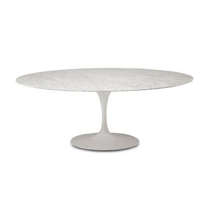 Malik Gallery Collection Eero Saarinen Round Tulip Dining Table - 54 saarinen table