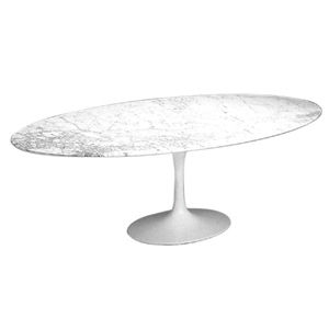 Oval Tulip Coffee Table - H 16